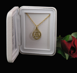 14K Gold Over Sterling Silver Medallion Pendant