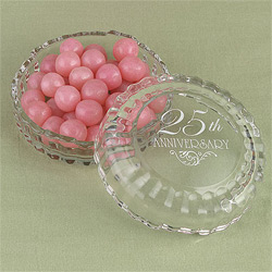 25th Anniversary Candy Dish