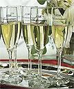 25th Wedding Anniversary Champagne or Wine Toasting Flutes Glasses