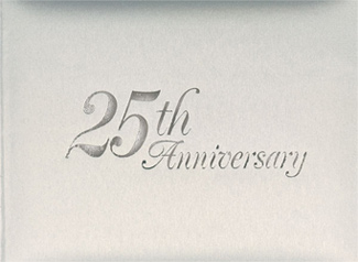 Silver Twenty-Fifth Wedding Anniversary Guest Book