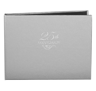25th Anniversary Silver Guest Book