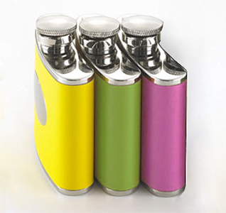 4oz Colors Leather Flask