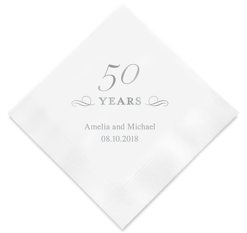 Wedding Personalized Napkins 50th anniversary personalized napkins printed napkins