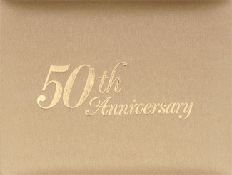 Gold Fiftieth Wedding Anniversary Guest Book