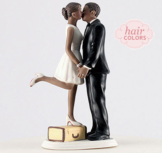 Kiss Were Off Bride Groom Cake Topper