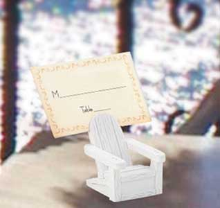 Beach wedding theme beach wedding accessories beach wedding adirondack chair place card holder junglespirit Image collections