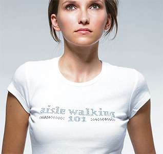 Aisle Walking 101 Wedding T-Shirt Rhinestone/Crystal Transfer