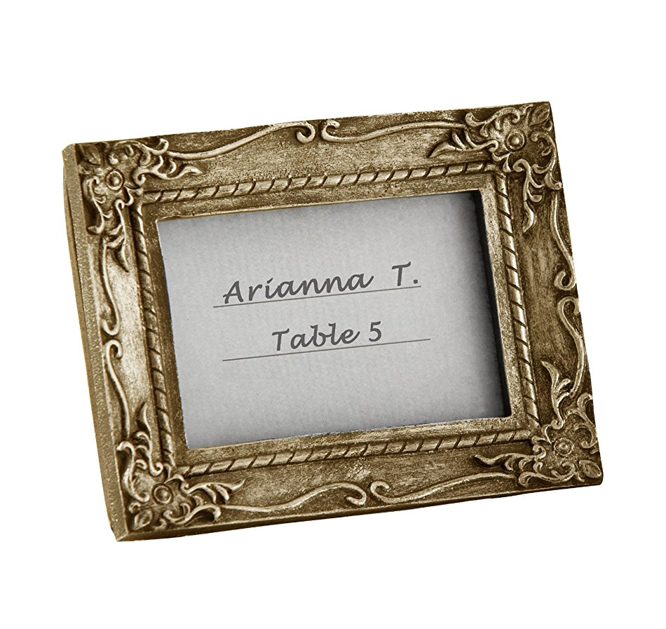 Antique-Finish Place Card Frame   Place Card Frames