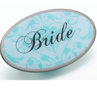 Aqua Blue Bride Pin