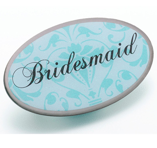Aqua Blue Bridesmaid Pin