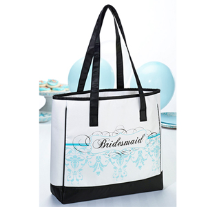 Aqua Blue Bridesmaid Tote Bag