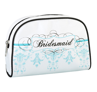 Aqua Blue Bridesmaid Makeup Case