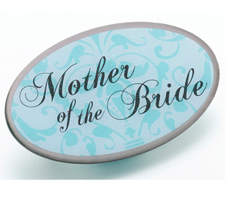 Aqua Blue Mother of the Bride Pin