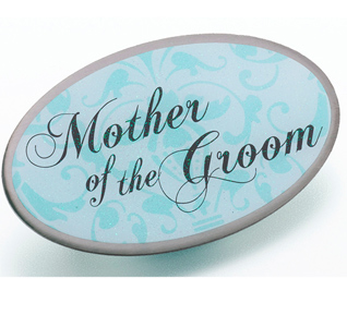 Aqua Blue Mother of the Groom Pin