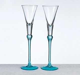 Aqua Set Of Tall Flutes