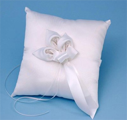 Calla Lily White or Ivory Wedding Ring Bearer Pillow