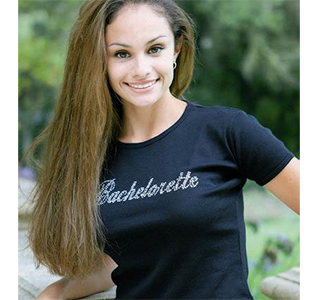 Bride/ Bachelorette Black T-Shirt with Rhinestones