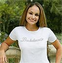 Bride/ Bachelorette White T-Shirt with Rhinestones