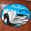 Bat Mitzvah Shopaholic Floor Decal