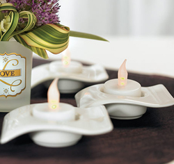 "Battery Operated Flickering ""Tealights"" Fake Wedding Candles"