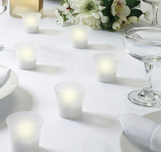 Battery Operated Wedding Votives Tealight Candles