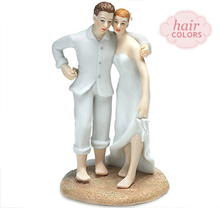 Cute Bride And Groom Cake Toppers
