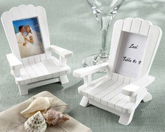 White Beach Chairs Wedding Table Place Card Holders/ Table Number Holders / Photo Picture Frame Favor