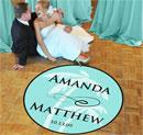Personalized Beach Wedding Dance Floor Decal