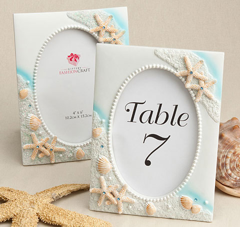 Beach Table Number Frame Beach Wedding Frames