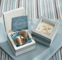 Beach Theme Wooden Trinket Boxes
