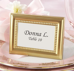 Beaded Gold Photo Frame/ Place Card Holder/ Table Number Holder