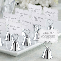 Kissing Wedding Bell Place Card Holders
