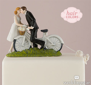 Wedding cake toppers wedding cake tops bicycle kiss bride groom cake topper junglespirit Images
