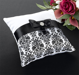 Black Damask Pillow