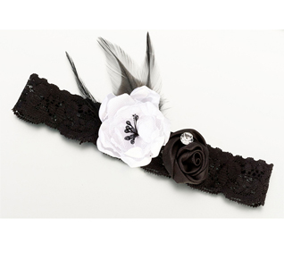 Bridal Garter with Flowers