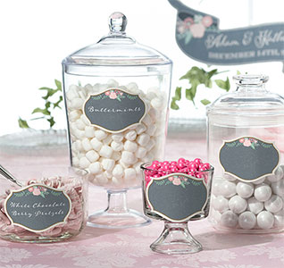 Rustic wedding theme rustic wedding accessories rustic wedding black and pink chalk style glass cling set of 12 junglespirit Image collections
