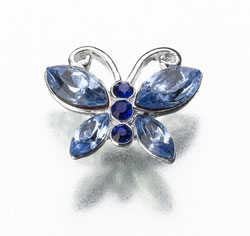 Something Blue Butterfly Wedding Pin