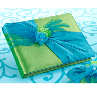 Wedding Guest Book with Flowers