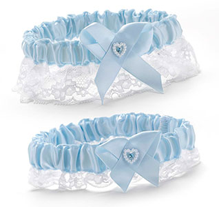63ae4835803 Blue Heart   Lace Bridal Garter Set
