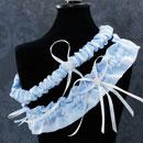 Blue Pearl Wedding Garter