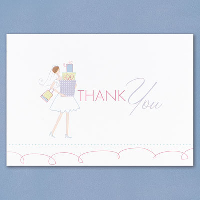 Wedding Gift Card Thank You : Bridal Gift Shower Thank You Cards Wedding Thank You Cards