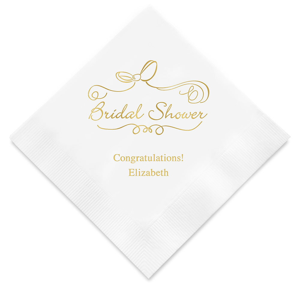 bridal shower personalized napkins