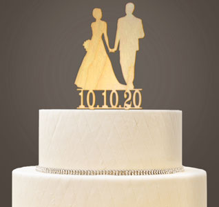 T Wedding Cake Topper