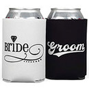 Bride/Groom Can Koozies