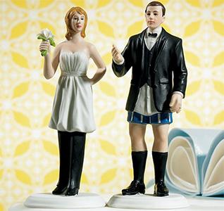 Bride In Charge Wedding Cake Top Couple Figurine