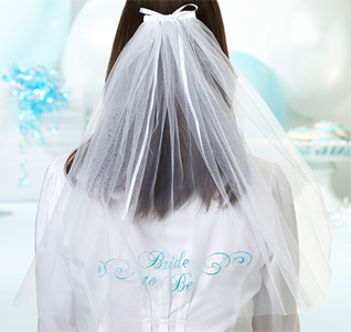 Bride To Be Veil - White