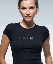 Bride Wedding Rhinestone T-Shirt Transfer