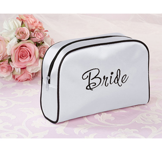 Bride White Medium Travel Cosmedic Makeup Bag