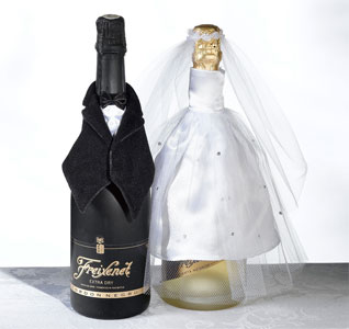 Bride and Groom Bottle Cover