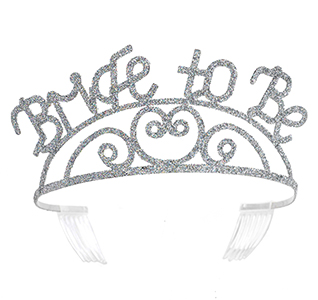 Silver Bride to be Wedding Party Tiara